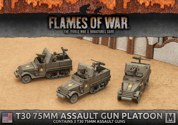 Flames of War Mid War American T30 75mm Assault Gun Platoon (UBX63)