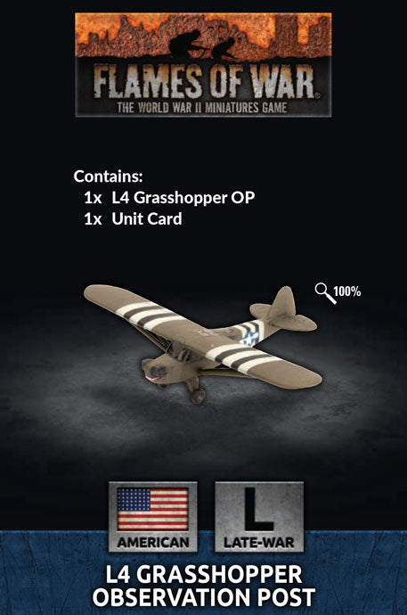Flames of War Late War American L4 Grasshopper Observation Post (US951)