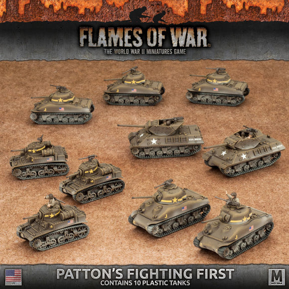 Flames of War Mid War American Patton's Fighting First Starter (USAB08)