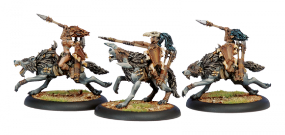 Circle Orboros Tharn Wolf Riders (3) (PIP 72024)