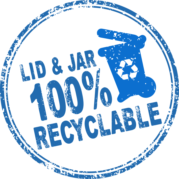 lid & jar 100% recyclable