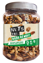 Load image into Gallery viewer, Nuts For Natural Nut Medley, a mix of peanuts, almonds, hazelnuts, cashew nuts, walnuts and brazil nuts.