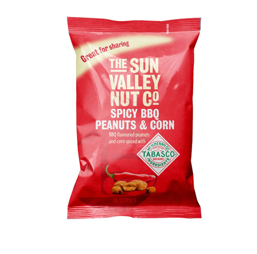 120g bag of Spicy BBQ Peanuts & Corn w/TABASCO® brand Seasoning