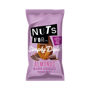 Nuts For Simply Dip'd Almonds in Dark Chocolate