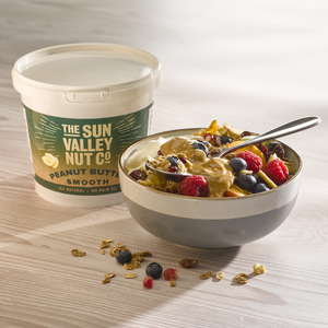 Sun Valley Natural 1kg Smooth Peanut Butter with porridge