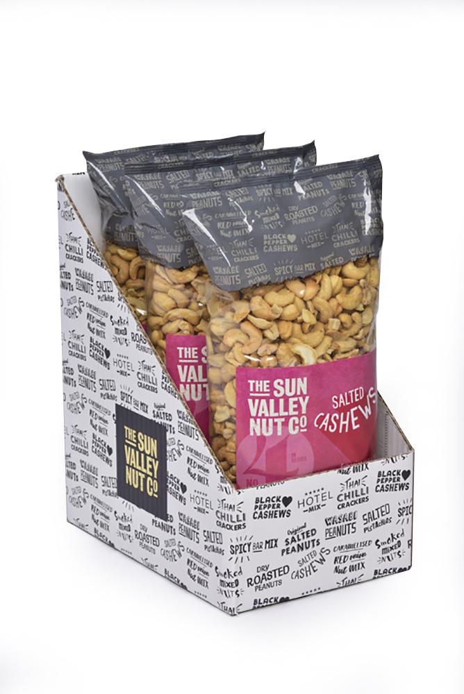 Roasted & Salted Cashews – 1kg x 3 bags per case