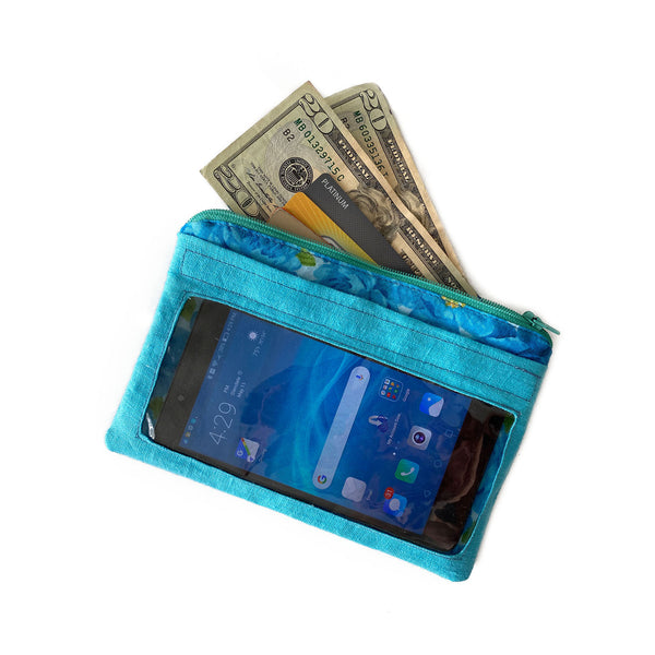 Aqua Zip Pouch for Phone