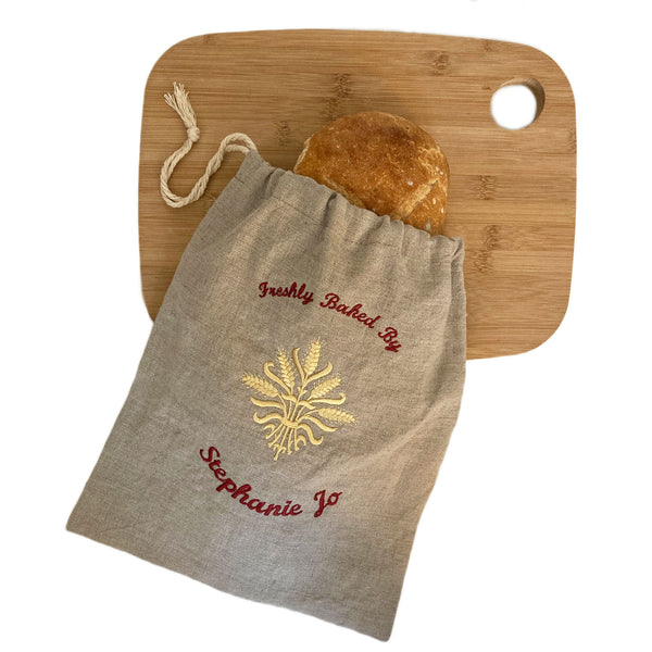 Custom Embroidered Bread Bag
