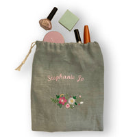 Custom Embroidered Linen Bag