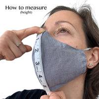 Gray Chambray Mask
