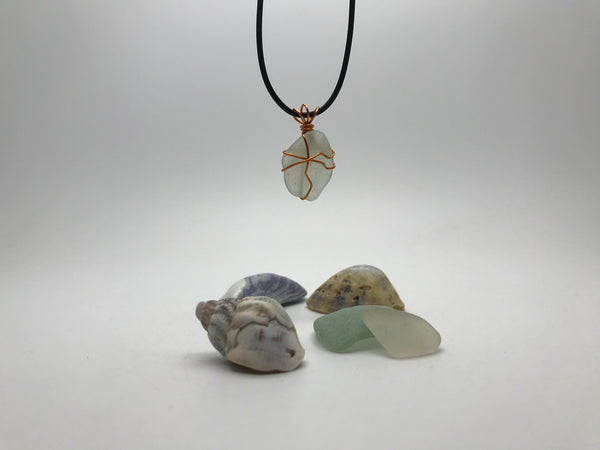 Wrapped Sea Glass Pendant
