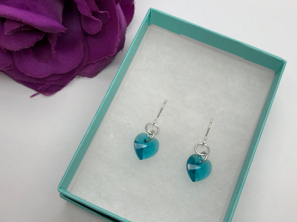 Swarovski Crystal Elements Heart Earrings
