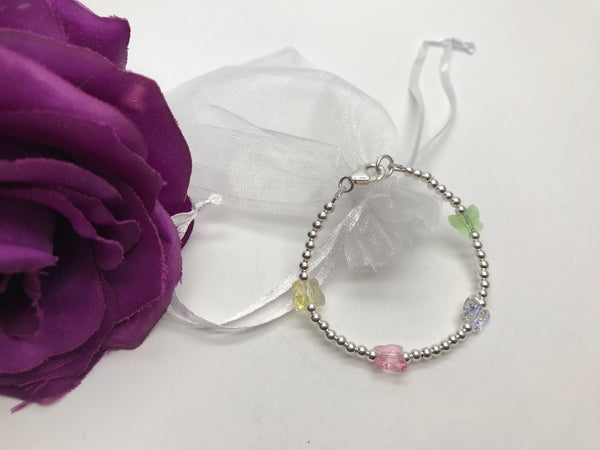 Child's Swarovski Crystal Butterfly Bracelet