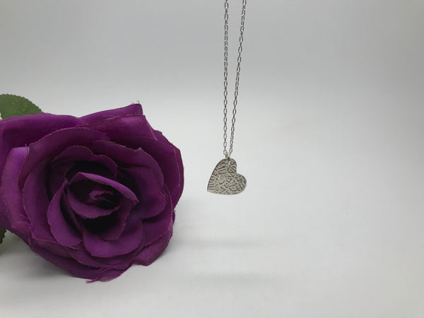 Fine Silver Heart Necklace
