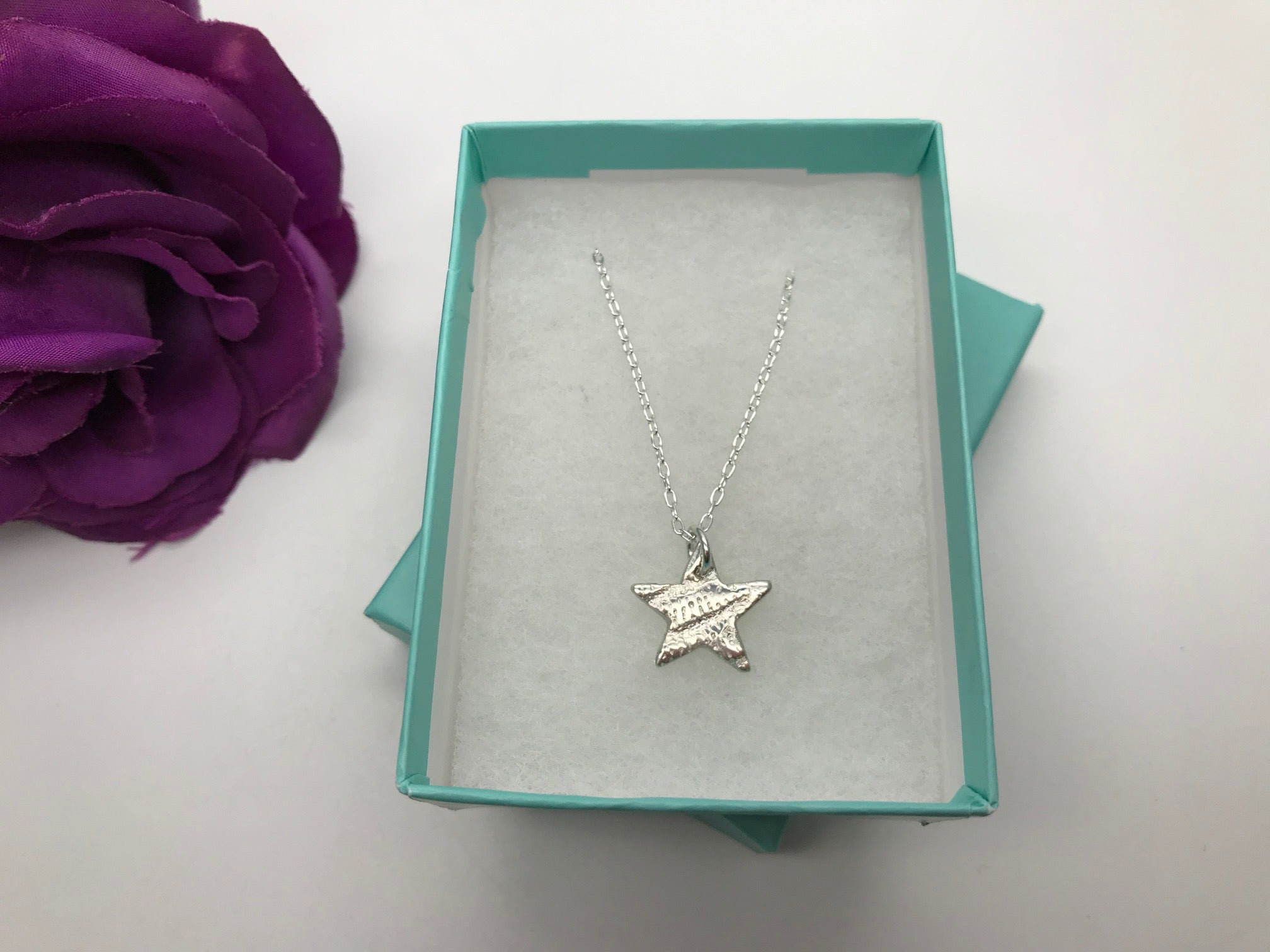 Fine Silver Star Necklace