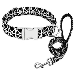 Black and White | Leash & Collar