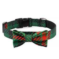 Green & Red Plaid Bow Tie | Collar