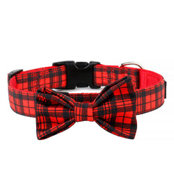 Red Plaid Bow Tie | Collar