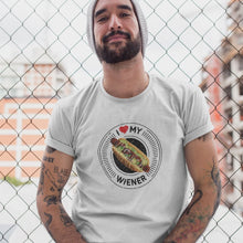 Load image into Gallery viewer, I Love My Wiener T-Shirt - Black T-shirt Good Grub Love
