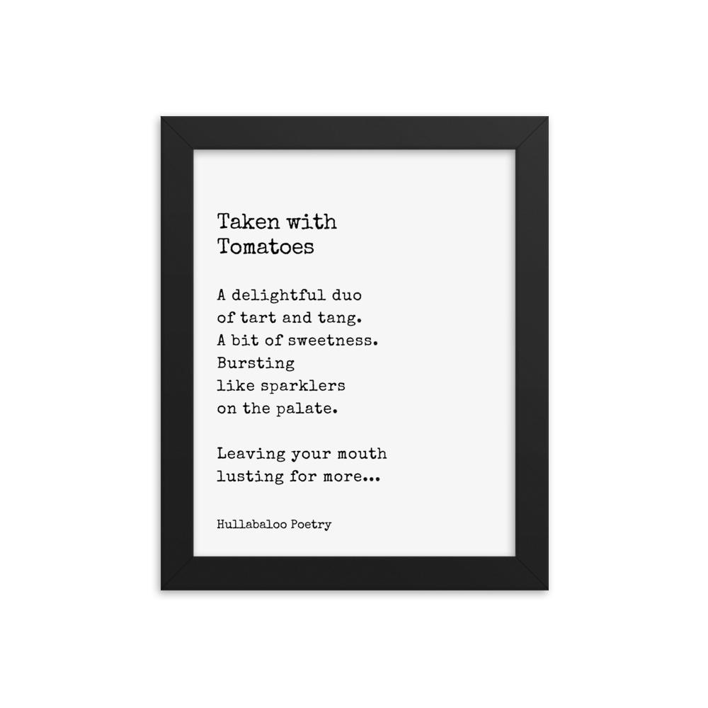 Tomato Poetry Poster - Framed