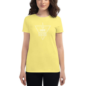 Fitted Food Lover T-Shirt - White T-shirt Good Grub Love Spring Yellow S