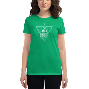 Fitted Food Lover T-Shirt - White T-shirt Good Grub Love Heather Green S