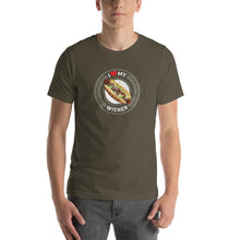 Load image into Gallery viewer, I Love My Wiener T-Shirt - White T-shirt Good Grub Love Army S