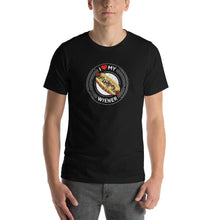 Load image into Gallery viewer, I Love My Wiener T-Shirt - White T-shirt Good Grub Love Black S