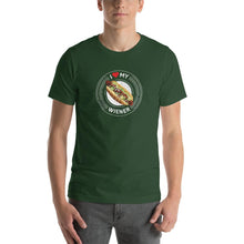 Load image into Gallery viewer, I Love My Wiener T-Shirt - White T-shirt Good Grub Love Forest S