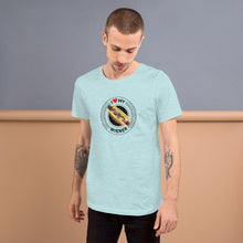 Load image into Gallery viewer, I Love My Wiener T-Shirt - Black T-shirt Good Grub Love Heather Prism Ice Blue M