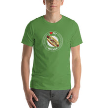 Load image into Gallery viewer, I Love My Wiener T-Shirt - White T-shirt Good Grub Love Leaf S