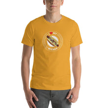 Load image into Gallery viewer, I Love My Wiener T-Shirt - White T-shirt Good Grub Love Mustard M