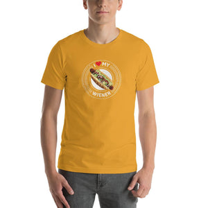 I Love My Wiener T-Shirt - White T-shirt Good Grub Love Mustard M