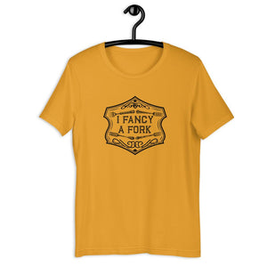 I Fancy A Fork Unisex T-Shirt - Black T-shirt Good Grub Love Mustard M