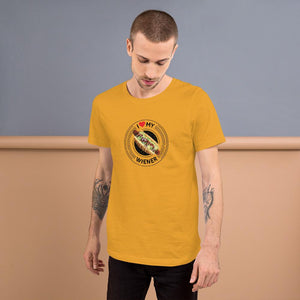 I Love My Wiener T-Shirt - Black T-shirt Good Grub Love Mustard M