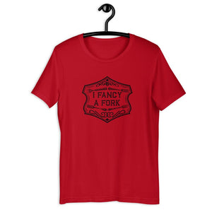 I Fancy A Fork Unisex T-Shirt - Black T-shirt Good Grub Love Red S