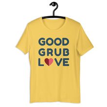 Load image into Gallery viewer, Good Grub Love Logo T-Shirt T-shirt Good Grub Love Yellow S