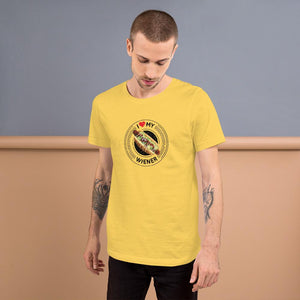I Love My Wiener T-Shirt - Black T-shirt Good Grub Love Yellow S
