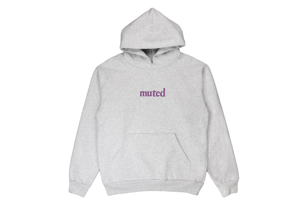 Muted Tension Organic Logo Hooded Sweatshirt Ash