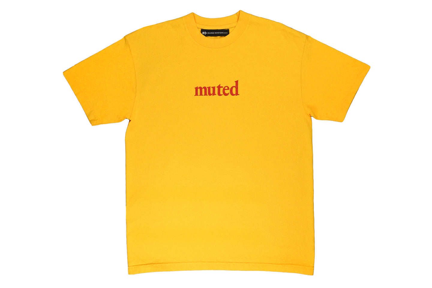 Muted Tension Organic Logo T-Shirt Gold