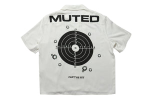 Muted Tension Target Practice Short Sleeve Camp Shirt Back