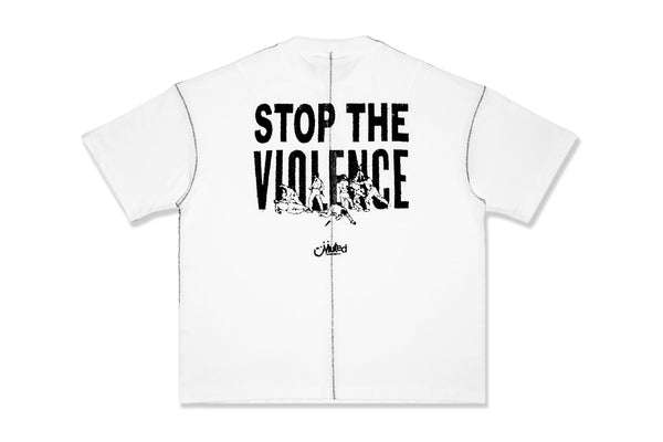 Stop The Violence T-Shirt (White)