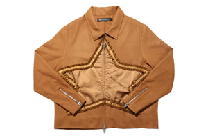 Muted Tension Wool Star Jacket (Sugar Almond)