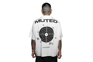 Muted Tension Target Practice Short Sleeve Rayon Camp Shirt