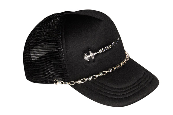 Muted Tension Logo Chain Trucker Cap