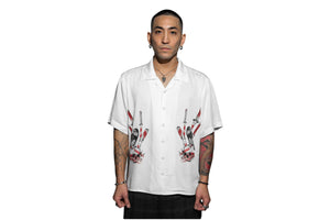 Muted Tension Desolate Short Sleeve Rayon Camp Shirt