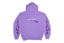 Load image into Gallery viewer, Muted Tension Shooting Stars Hoodie (Lavender)