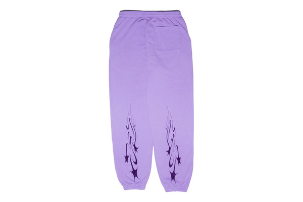Muted Tension Shooting Stars Sweat Pants (Lavender)