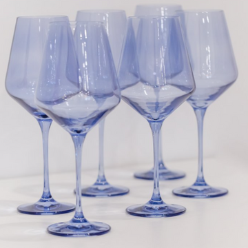 Estelle Colored Stemware // Cobalt Blue - The Feedfeed Shop