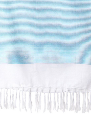 Lightweight Fringe Towel // Turquoise - The Feedfeed Shop